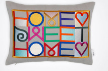 Vitra Embroidered Pillow Design