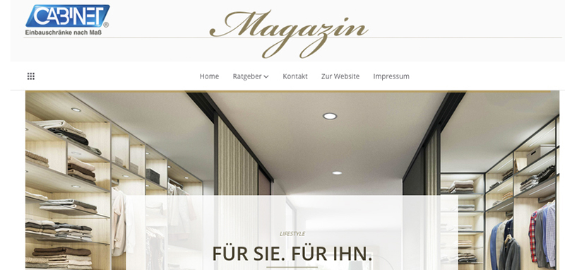 cabinet launcht unternehmensblog marken. Black Bedroom Furniture Sets. Home Design Ideas