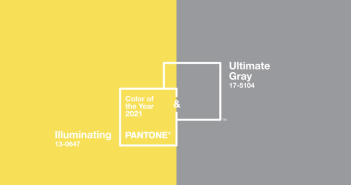 17-5104 Ultimate Gray + PANTONE 13-0647 Illuminating © Pantone