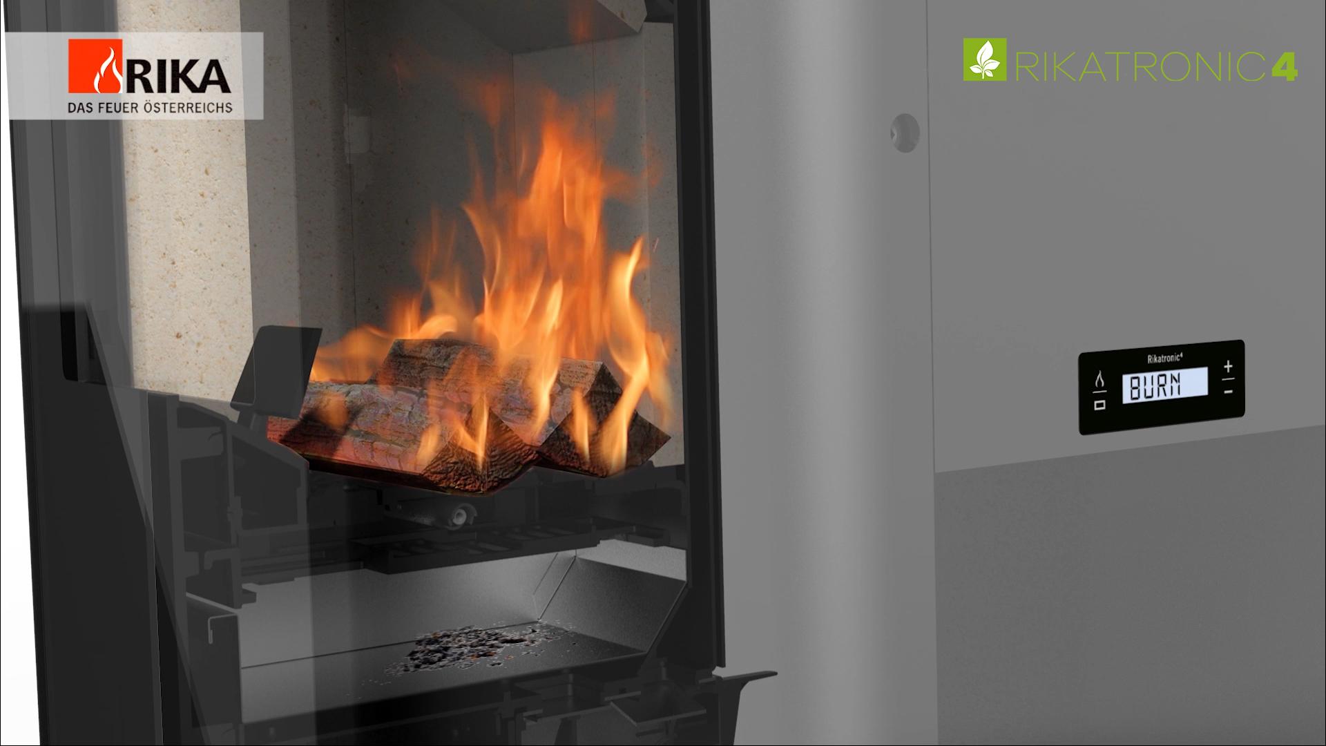 Nach Hause kommen, das Feuer knistert im Ofen © Rika