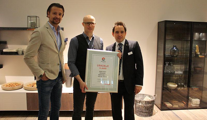 starker Partner: Haas Möbel (Martin Laireiter, Theo Haas, Martin Oberwallner) © Der Kreis