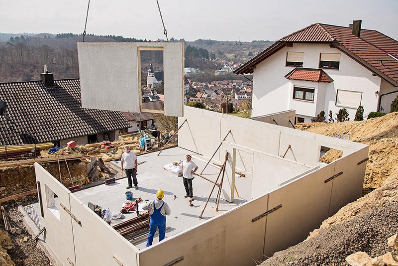 Fertigkellerwände mit höchster Verarbeitungsqualität © GÜF/MB Effizienzkeller