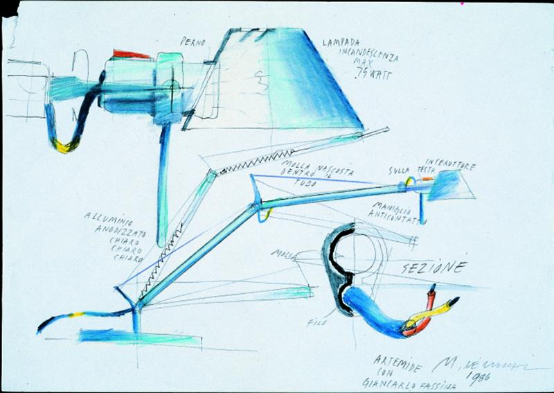 Der erste Entwurf zur Tolomeo © Artemide