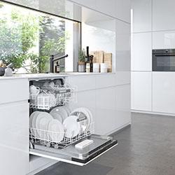 leicht verschmutztes Geschirr ist in11 Minuten sauber © AMK