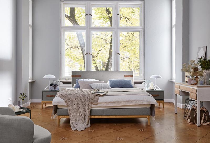 Das gemütliche Schlafzimmer bietet Erholung und Entspannung © VDM/Birkenstock.