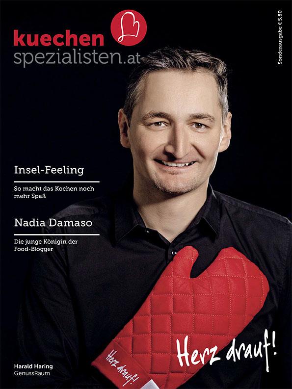 Das neue Küchenmagazin, personalisierte Version Harald Haring, Genussraum © Der Kreis drauf!